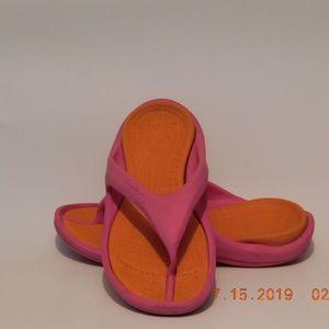 Crocs Thong Sandal Pink & Orange size 7/9
